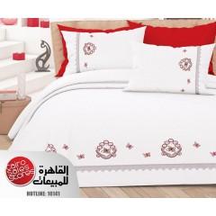 الفتال فراشة طقم ملاية سرير مطرزه بالجوبير مقاس 240سم *250 سم B-2060