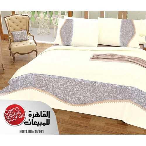 AL-FATTAL LAROSA Bed sheet Size 240cm*250 cm Embroidered Set 5 Pieces B-3010