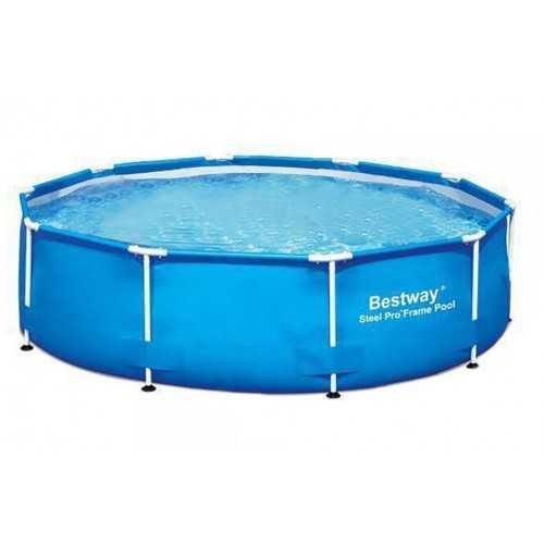 بيست واي حمام سباحة دائري بالحواف العالية تيتانيوم 16296 لتر POOL 56384