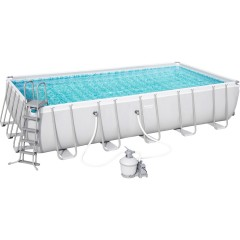 Bestway Swimming Family Rectangular Frame With Sand Filter BS_56470