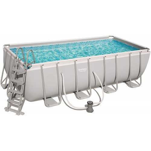 Bestway Swimming Pool 11532 Lt Family Rectangular Frame With Sand Filter BS-56670