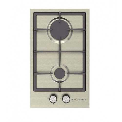Ecomatic Built-In Hob 30 cm 2 Gas Burners Stainless S313C