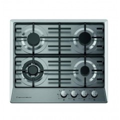 Ecomatic Built-In Hob 60 cm 4 Gas Burners Enameled Front Control S603OM