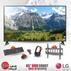 "LG 65"" LED TV Ultra HD 4K Smart WebOS With Built-In 4K Receiver And Gifts 65UK6300"