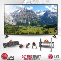 """LG 55"""" LED TV Ultra HD 4K Smart WebOS With Built-In 4K Receiver 55UK6300PVB"""