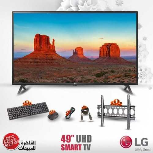 """LG 49"""" LED TV Ultra HD 4K Smart WebOS With Built-In 4K Receiver And Gifts 49UK6300PVB"""