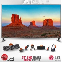 """LG 75"""" Ultra HD 4K LED TV Smart Wireless WEBOS TV With Built-in Receiver 4K 75UK7050"""