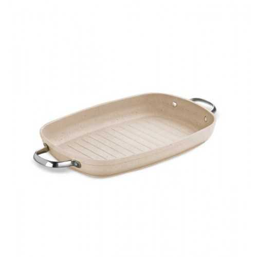 KORKMAZ Granita Pan Grill With Two Handle Stainless Steel Granite 25cm A1274