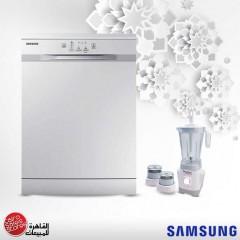 Samsung Dishwasher 12 Person White andTornado Blender 500W MD DISH Bundle7