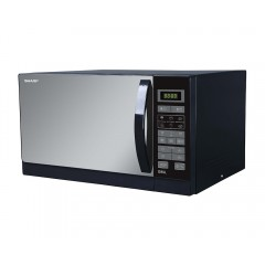Sharp Microwave 25 Litre 900 Watt With Grill and 8 Auto Menus Black R-750MR(K)