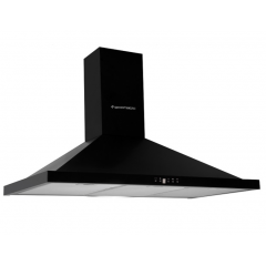 Ecomatic Kitchen Chimney Pyramid Hood 60 cm 650 m3/h Black Digital H66BKD