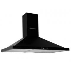Ecomatic Kitchen Chimney Pyramid Hood 90cm 650 m3/h Black H96BKB