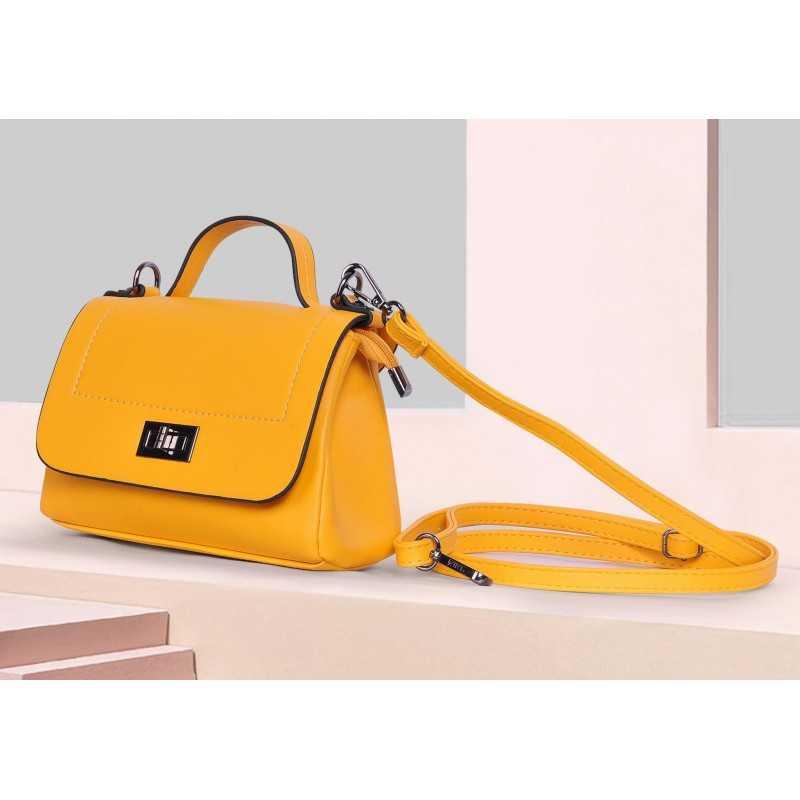 ART Mini Satchel PU Leather Mustard Color AM-1405