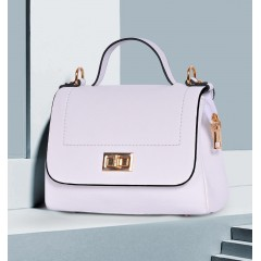 ART Mini Satchel PU Leather White Color AW-1405