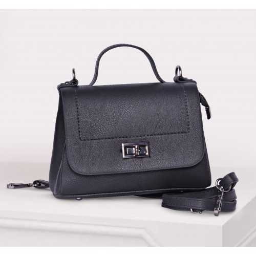 ART Mini Satchel PU Leather Black Color AB-1405