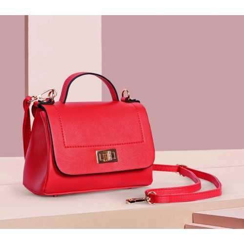 ART Mini Satchel PU Leather Red Color AR-1405