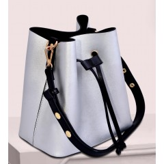 ART Shoulder Bag PU Leather Silver Bright ASS-1415