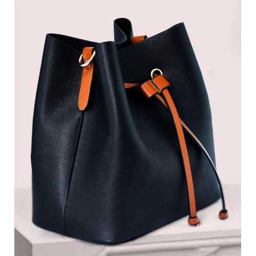 ART Shoulder Bag PU Leather Black ASB-1415