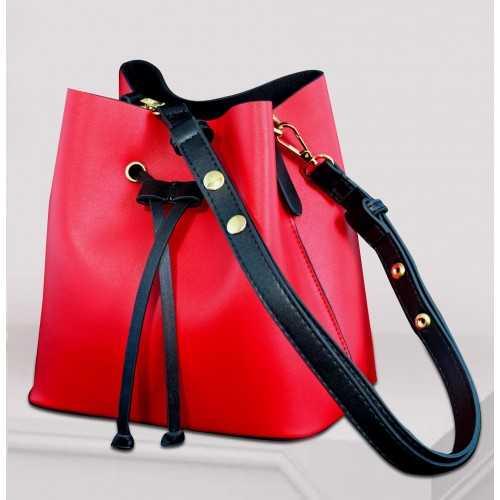 ART Shoulder Bag PU Leather Red ASR-1415