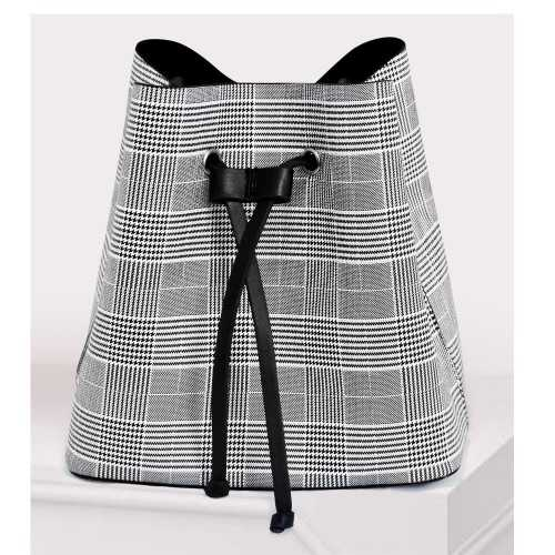 ART Shoulder Bag PU Leather Black and White ASBW-1415