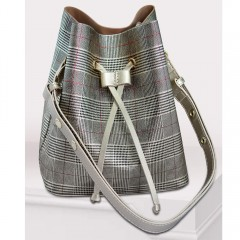 ART Shoulder Bag PU Leather Multi Color with Silver Hand ASMCH-1415
