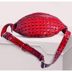 ART Waist Bag PU Leather Bright Red Color AWR-1416