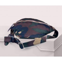 ART Waist Bag Fabric Front Zipper Military Color AWFM-1416