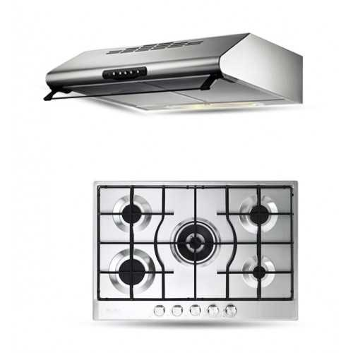 Elba Gas Hob 75 cm 5 Burners Safety Stainless ELIO 75-545 L