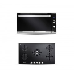 Elba Gas Glass Hob 90 cm 5 Burners and Gas oven with Grill 90 cm 83L ELIO 910 G Bundle5