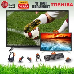TOSHIBA TV Ultra HD 4K Smart 75 Inch Android and Gifts 75U7750VE