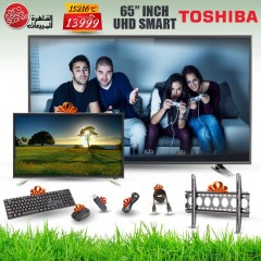 Toshiba TV LED 4K Smart 65 Inch With Built In Receiver and Gifts 65U5865EA