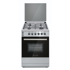 Ecomatic Cooker 60x60 cm 4 Burners Cast Iron Safety Stainless FS6104M