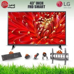 LG TV 43 Inch LED FHD 1920*1080p Smart With Built-in HD Receiver and Gifts 43LM6300PVB