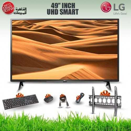 LG TV 49 Inch LED UHD 3840*2160p Smart With Built-in Receiver and Gifts 49UM7340PVA