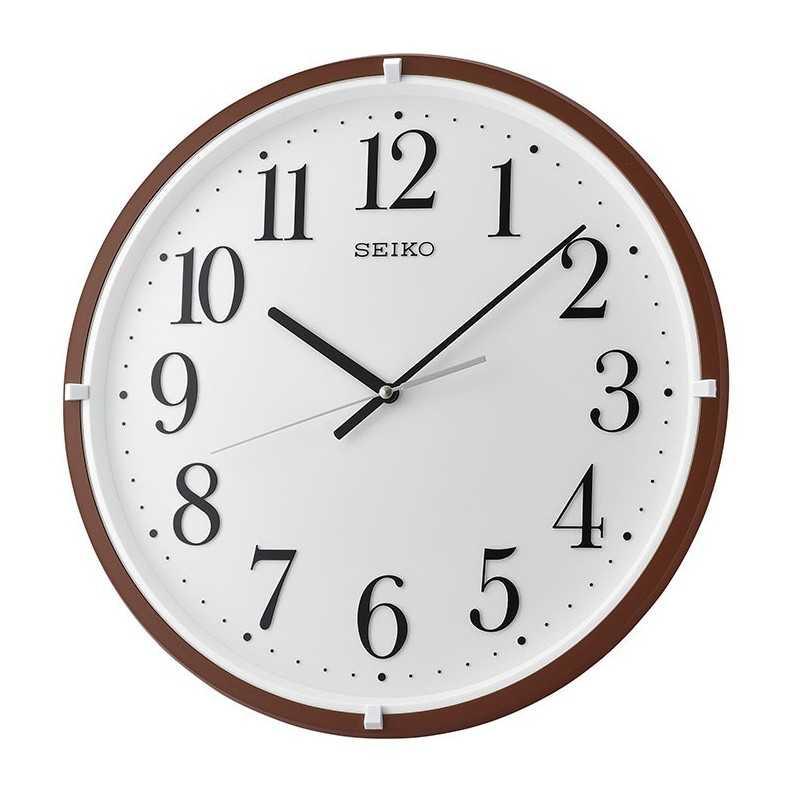 Seiko Wall Clock Plastic 40 Cm Frame Brown Qxa931b