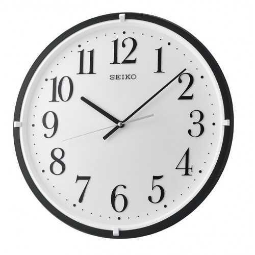 سيكو ساعة حائط برواز بلاستيك برواز اسود QXA931K