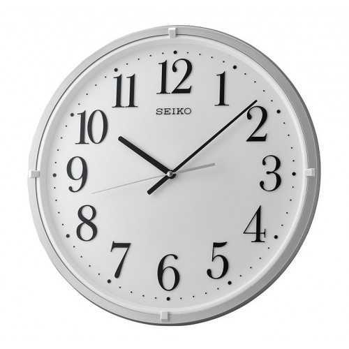 سيكو ساعة حائط برواز بلاستيك لون ابيض QXA931S