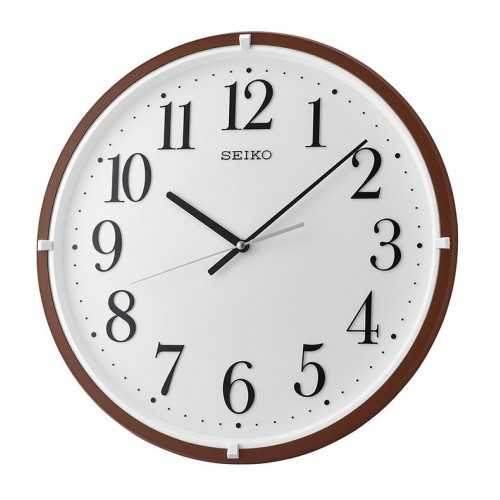 SEIKO Wall Clock Plastic Frame Brown QXA931B