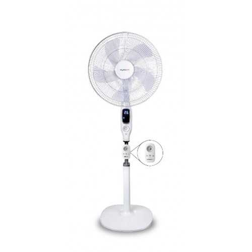 Daewoo Stand Fan 16 Inch with Remote Control White DF40-12SR