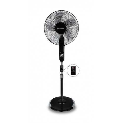 Daewoo Stand Fan 16 Inch with Remote Control Black DF40-13SR