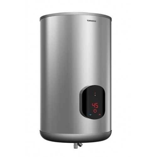 Tornado Electric Water Heater 65 Liter Silver With Digital Screen EWH-S65CSE-S