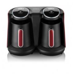 أرزوم أوكا ماكينة صنع القهوة التركي مزدوجة الاستخدام لون أسود * احمر ok006R
