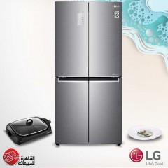 LG Refrigerator 4 Doors 19 Feet 530 Liter Water Dispenser Inverter GC-B22FTLPL