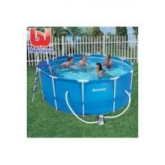 Bestway Swimming Pool 10250 Liter Circular Steel Pro Frame Pool: 56088