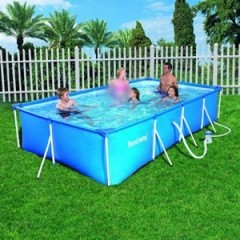 Bestway Swimming Pool With Filter Pump 5700 Liter Family Splash Frame Pool: 56082