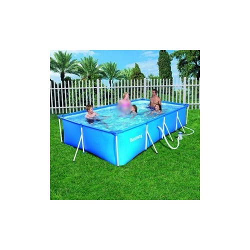 Bestway swimming pool with filter pump 5700 liter family - How many litres in a swimming pool ...
