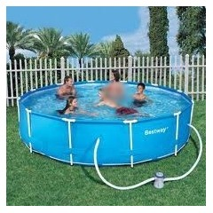 Bestway Swimming Pool 9150 Liter With Filter Pump Circular Family Frame Pool: 56260