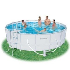 Bestway Swimming Pool 19480 Liter With Filter Pump Circular Steel Pro Frame Pool: 56266