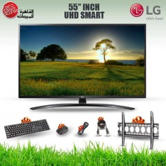LG TV 55 Inch LED UHD 3840*2160p Smart With Built-in Receiver 55UM7450PVA
