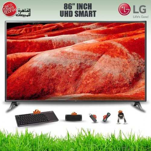 LG TV 86 Inch LED UHD 3840*2160p Smart With Built-in Receiver 86UM7580PVA